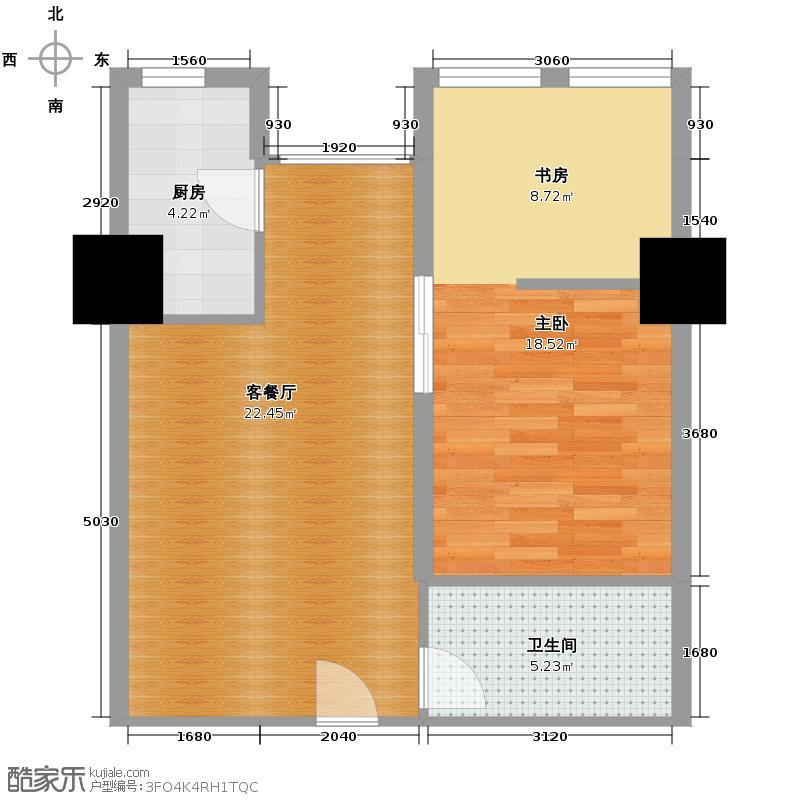 IBC中海国际83.00㎡B户型1室1厅1卫1厨