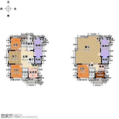 鸿雁名居4室0厅3卫1厨220.53㎡户型图