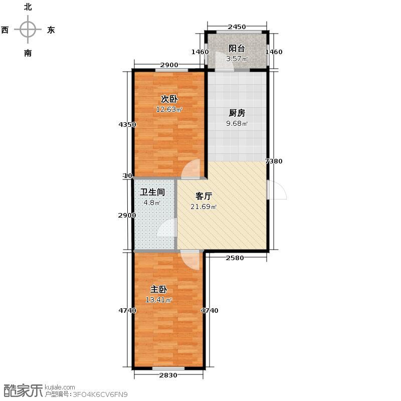 海富漫香林47.54㎡多层户型2室1厅1卫