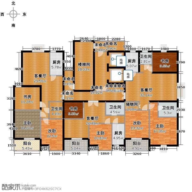海天城70.26㎡野风户型8室3厅4卫3厨