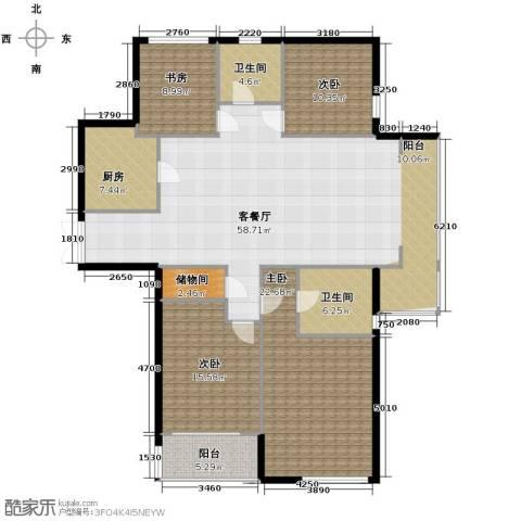 上东臻品4室1厅2卫1厨194.00㎡户型图