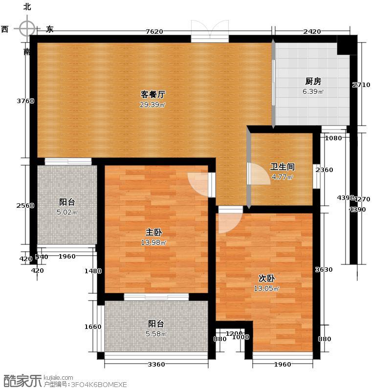 江雁mini格调89.40㎡二期16-19号楼标准层C3户型10室