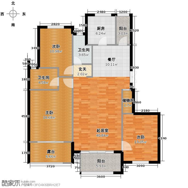紫金东郡127.71㎡13#40户型10室