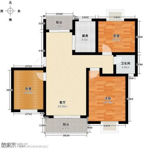 恒盛泰晤士印象1室1厅1卫1厨108.00㎡户型图
