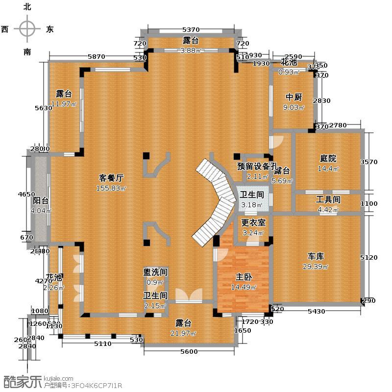 保利紫山花园467.93㎡A1首层户型10室