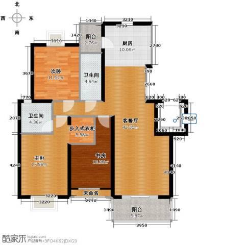 金海・香滨湾3室1厅2卫0厨133.00㎡户型图