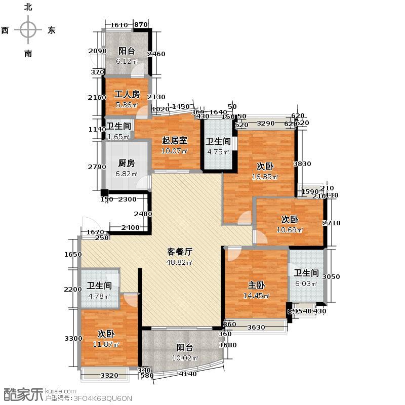 雅居乐曼克顿山205.00㎡2座02单元/3座01单元户型5室2厅4卫