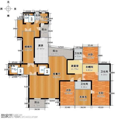 东方润园3室1厅4卫1厨306.89㎡户型图