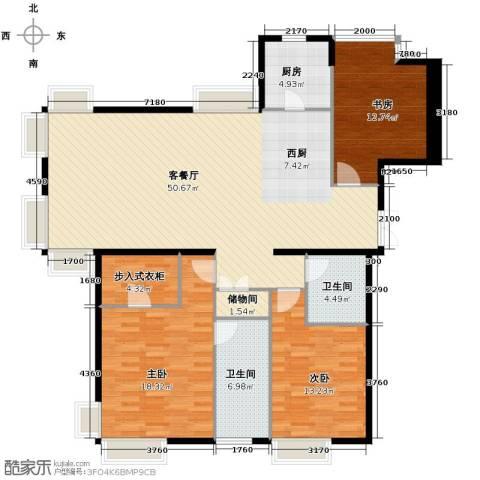 西美五洲天地3室2厅2卫0厨158.00㎡户型图