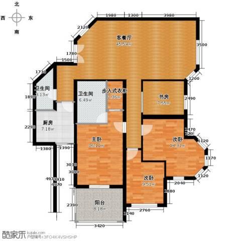 浅水湾城市花园4室1厅2卫1厨135.10㎡户型图