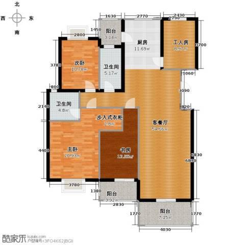金海・香滨湾3室1厅2卫0厨159.00㎡户型图