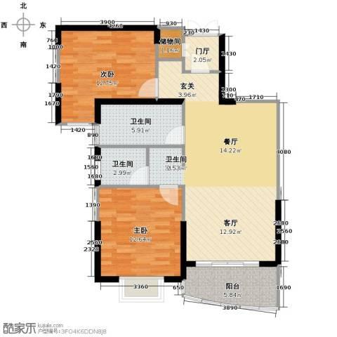 亚东观云国际公寓79.00㎡户型图