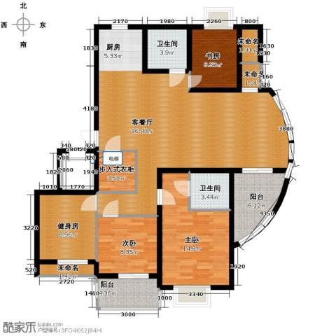 金海・香滨湾3室1厅2卫0厨166.00㎡户型图