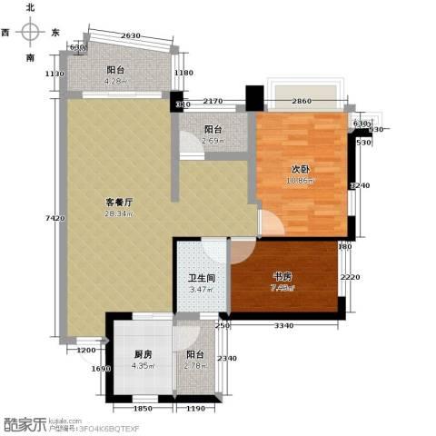 雅居乐曼克顿山3室2厅1卫0厨90.00㎡户型图
