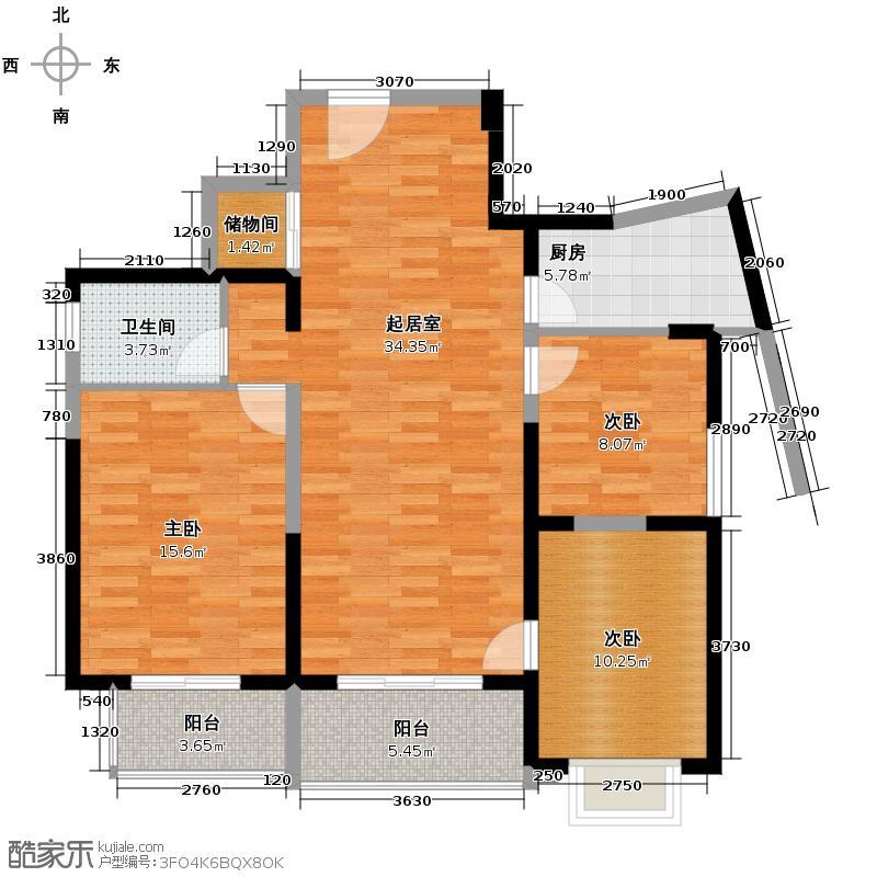 郑和国际广场100.76㎡0203栋29层B1-2套型户型10室
