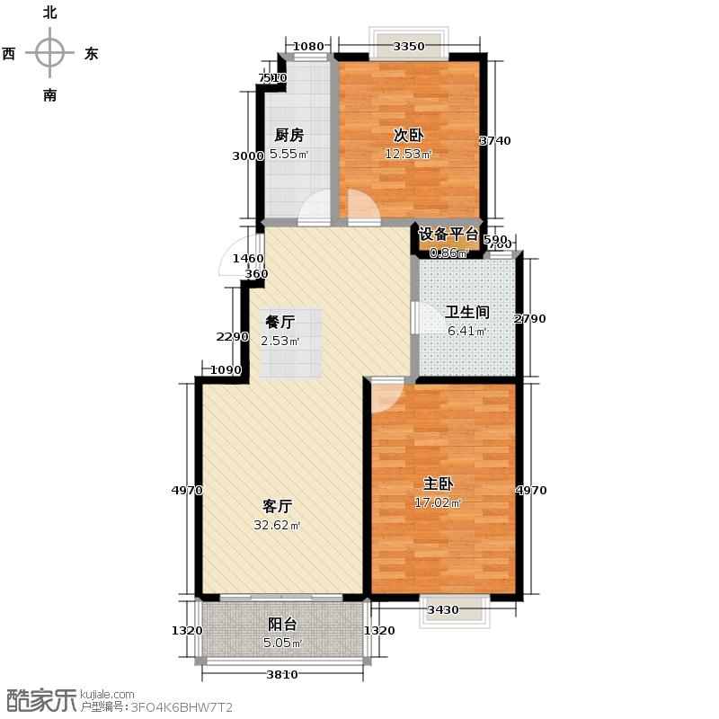德基紫金南苑99.26㎡--72套户型10室