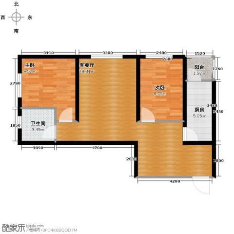 北郡帕提欧2室2厅2卫0厨82.00㎡户型图