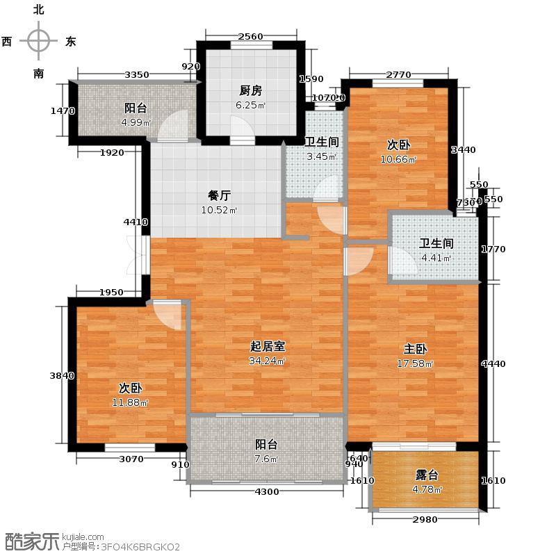 紫金东郡117.49㎡13#40户型10室