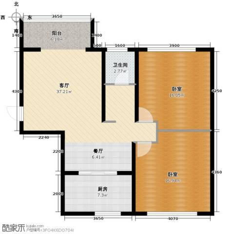 青春水岸2室1厅1卫0厨104.00㎡户型图