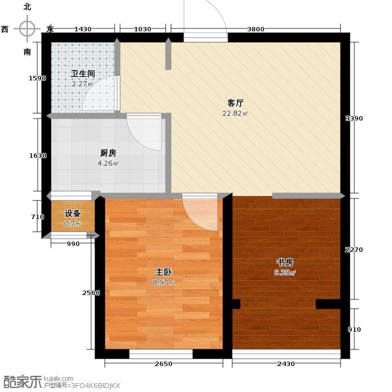 燕都紫庭60.49㎡1号楼5号楼B户型1室1厅1卫