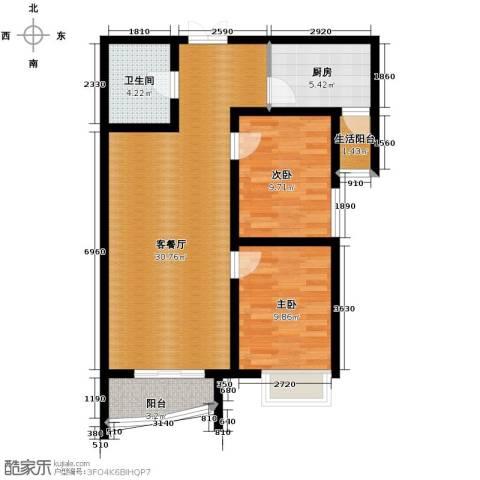 星河御城2室2厅1卫0厨95.00㎡户型图