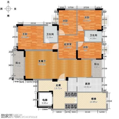 凯旋城4室1厅2卫1厨168.00㎡户型图