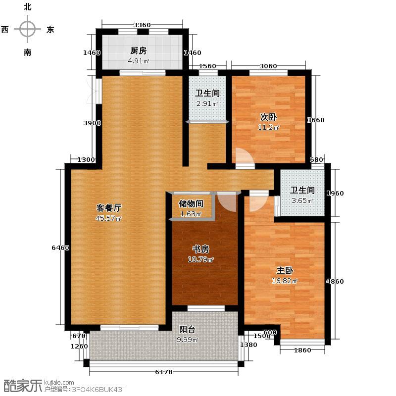 中豪天禄129.00㎡乙-4户型10室