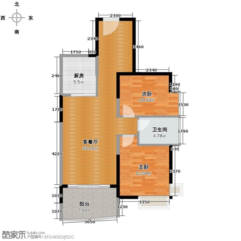 航天云海台81.30㎡户型10室