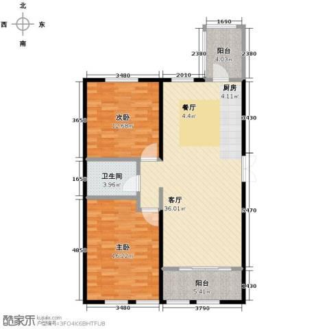 金域蓝城2室1厅1卫0厨78.32㎡户型图