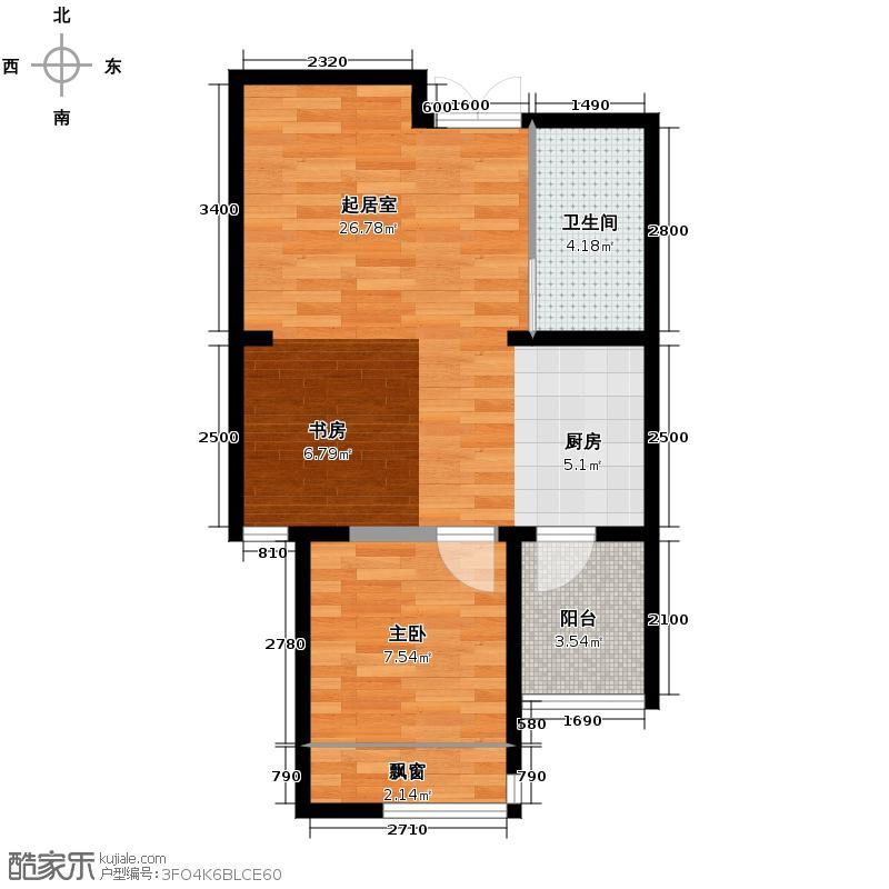领域佳境61.32㎡C户型2室1厅1卫