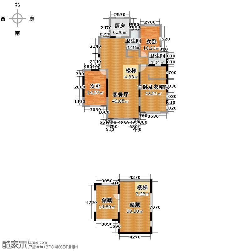 紫金东郡173.97㎡13#10户型10室