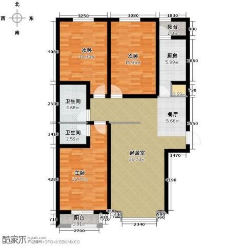 翰林观天下3室2厅2卫0厨135.00㎡户型图