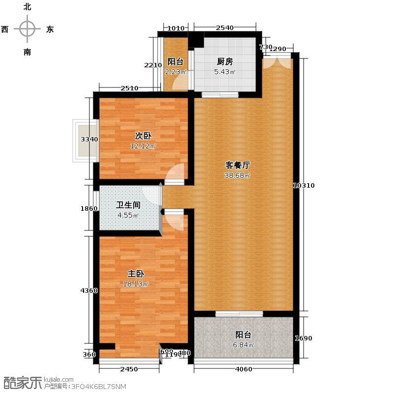 领汇双河湾114.60㎡B3号楼3户型2室2厅1卫