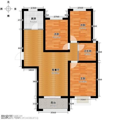 西溪诚园3室2厅1卫0厨119.00㎡户型图