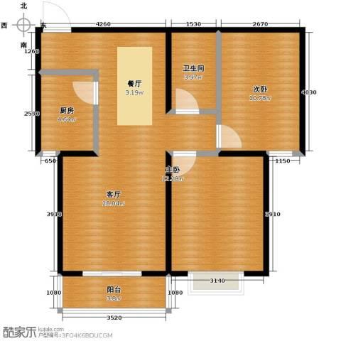 鼎原时代2室2厅1卫0厨89.00㎡户型图