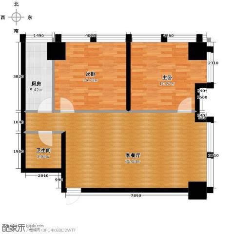 中基国际公馆2室1厅1卫0厨119.00㎡户型图