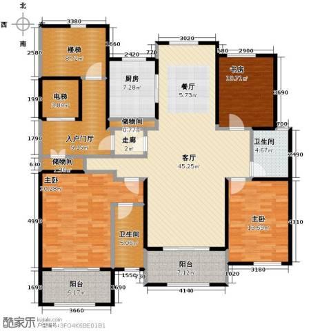 青鸟中山华府3室2厅2卫0厨170.00㎡户型图