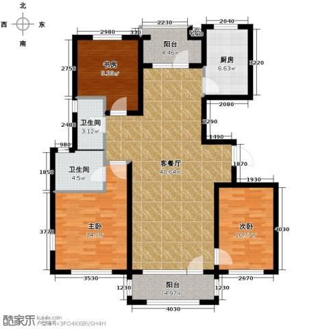 朗诗保利麓院3室2厅2卫0厨141.00㎡户型图
