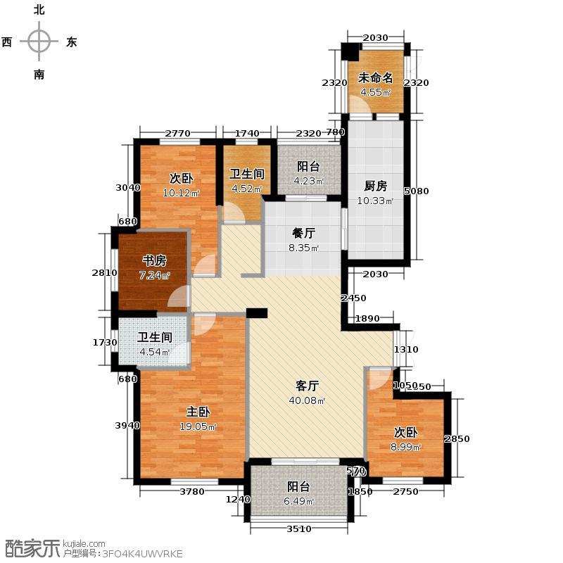 中新御景湾158.00㎡1#3#西边套C户型4室1厅2卫1厨