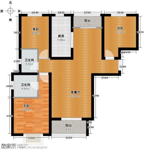 北郡帕提欧3室2厅2卫0厨126.00㎡户型图