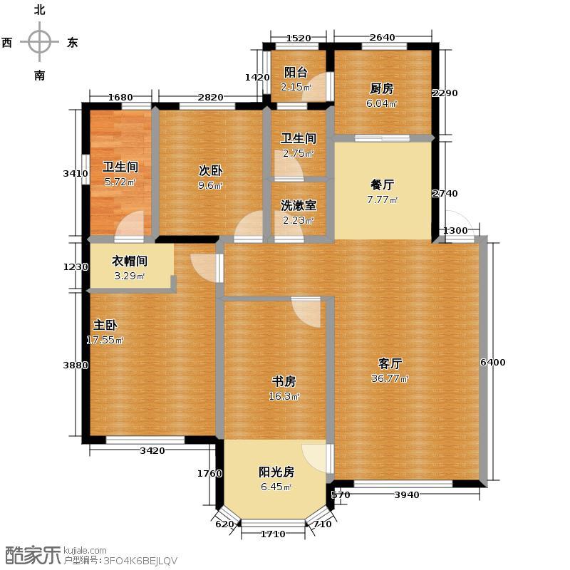 中海城100.00㎡户型3室2厅2卫