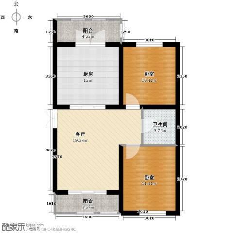 金域蓝城1厅1卫1厨92.00㎡户型图