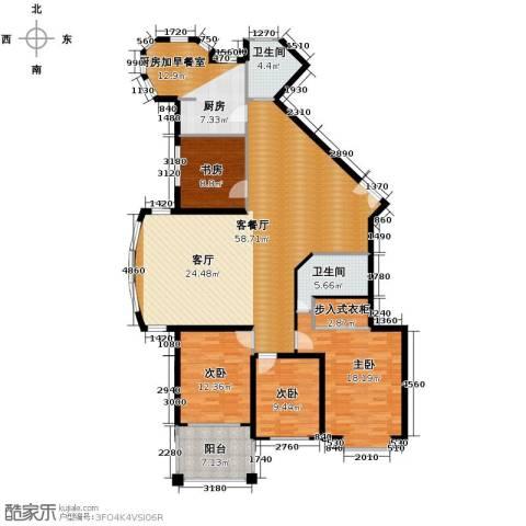 浅水湾城市花园4室1厅2卫0厨154.74㎡户型图