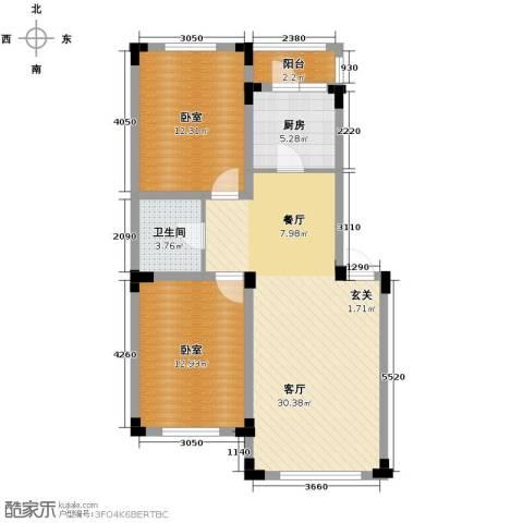 爵士公馆2室2厅1卫0厨87.00㎡户型图