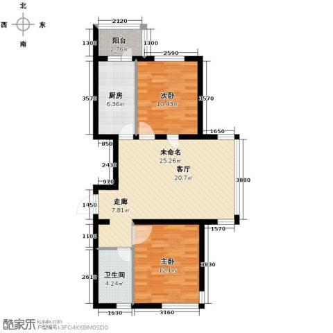 悦城3室2厅2卫0厨87.00㎡户型图