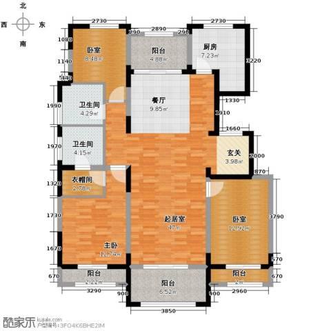 香江湾3室2厅2卫0厨157.00㎡户型图