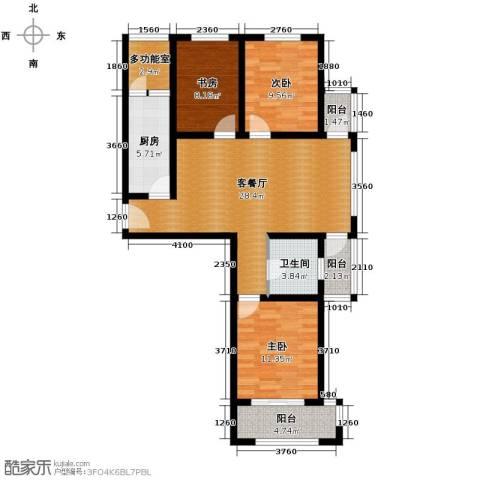 西溪诚园3室2厅1卫0厨78.29㎡户型图