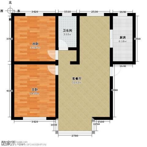庄辰丽景苑2室2厅1卫0厨97.00㎡户型图