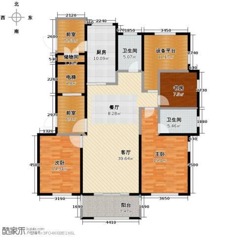 青鸟中山华府3室2厅2卫0厨138.01㎡户型图