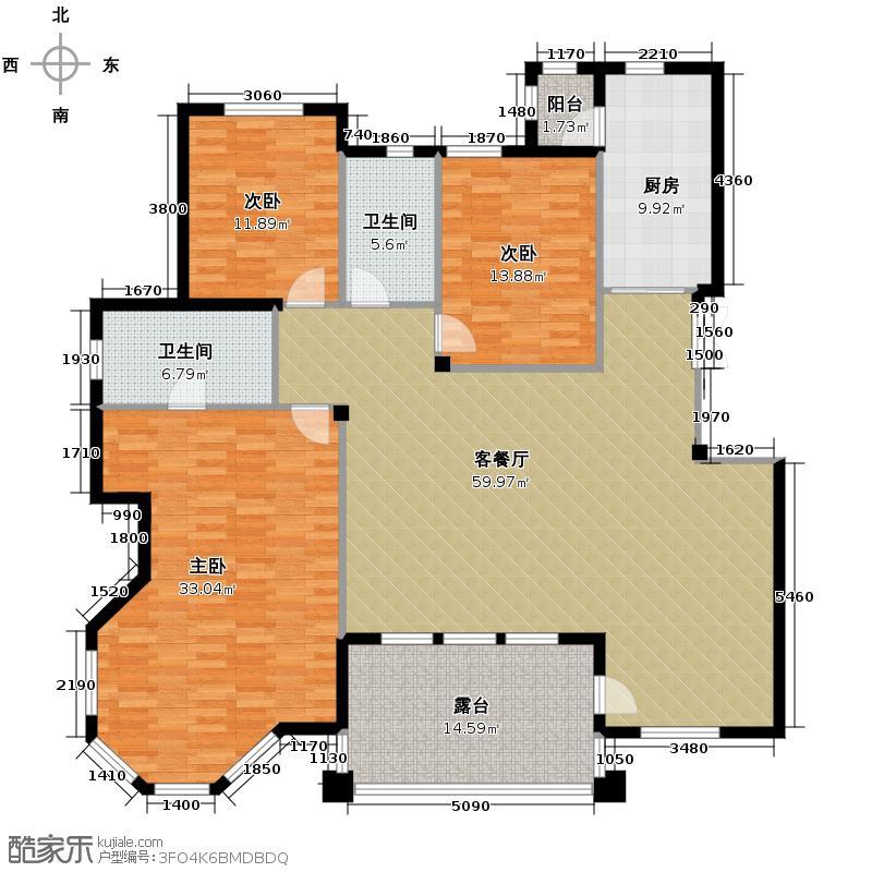 辰能溪树庭院171.95㎡一期E/568910楼三层三居户型10室